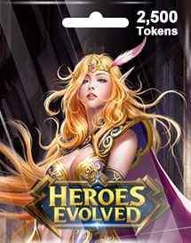 heroes evolved 2,500 tokens mobile r2 games
