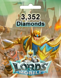 lords mobile 3,352 diamonds mobile
