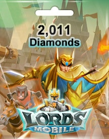 lords mobile 2,011 diamonds mobile