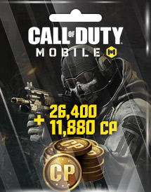 call of duty: mobile 26,400 + 11,880 cp garena id