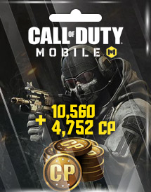 call of duty: mobile 10,560 + 4,752 cp garena id
