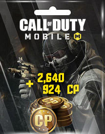 call of duty: mobile 2,640 + 924 cp garena id