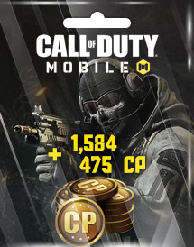 call of duty: mobile 1,584 + 475 cp garena id