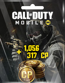 call of duty: mobile 1,056 + 317 cp garena id
