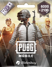 pubg mobile 6,000 + 2,100 uc global