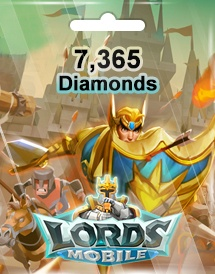 lords mobile 7,365 diamonds mobile