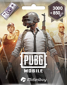 pubg mobile 3,000 + 850 uc global