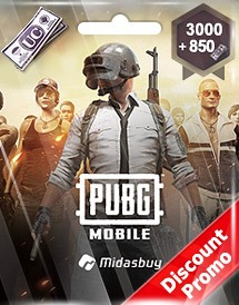 pubg mobile 3,000 + 850 uc global discount promo