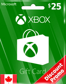 xbox live gift card cad25 ca discount promo