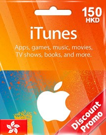 hkd150 itunes gift card hk discount promo