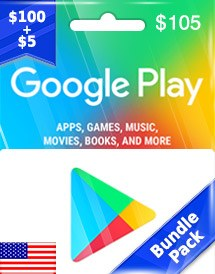 google play usd105 gift card us bundle pack