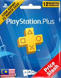 playstation plus 12-month subscription code my price slash