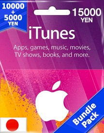 itunes 15,000yen gift card jp bundle pack