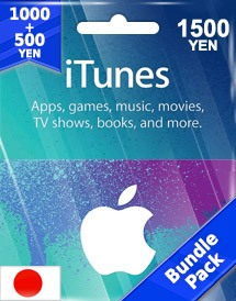 itunes 1,500yen gift card jp bundle pack