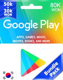 google play 80,000won gift card kr bundle pack