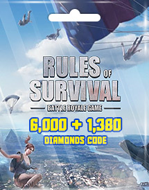 rules of survival 6,000 + 1,380 diamonds code