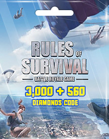 rules of survival 3,000 + 560 diamonds code