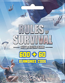 rules of survival 600 + 60 diamonds code