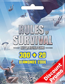 rules of survival 300 + 20 diamonds code discount promo