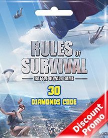 rules of survival 30 diamonds code discount promo