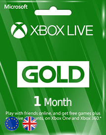 xbox live gold 1 month subscription eu/uk