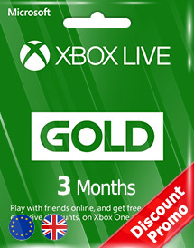 xbox live gold 3 months subscription eu/uk discount promo