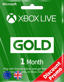 xbox live gold 1 month subscription eu/uk discount promo