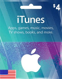 itunes usd4 gift card us