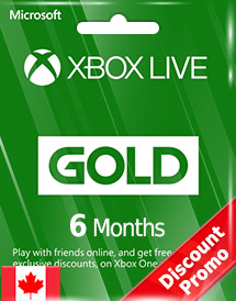 xbox live gold 6 months subscription ca discount promo