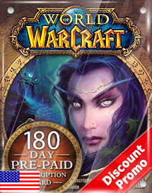 world of warcraft 180days pre-paid game card us discount promo