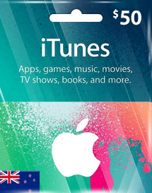 itunes nzd50 gift card nz
