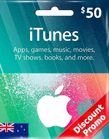 itunes nzd50 gift card nz discount promo