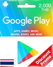 google play thb2,000 gift card th discount promo