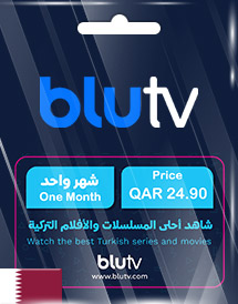 blutv 1 month subscription e-codes 25.00 qar