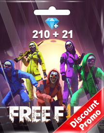 free fire 210 + 21 diamonds pins garena discount promo