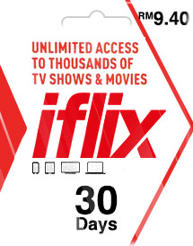 iflix 30days subscription rm9.40 my