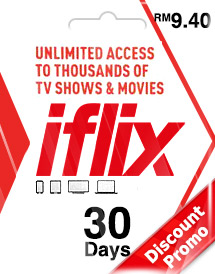 iflix 30days subscription rm9.40 my discount promo