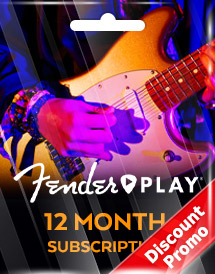 fender play 12 month subscription global discount promo