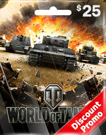 wargaming - world of tanks usd25 discount promo us