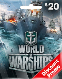 wargaming - world of warship usd20 discount promo us