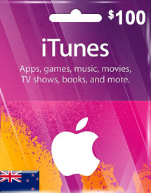 itunes nzd100 gift card nz