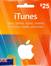 itunes nzd25 gift card nz