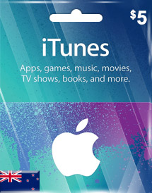 itunes nzd5 gift card nz