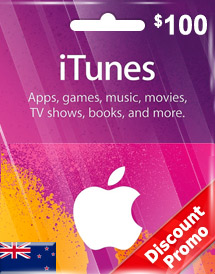 itunes nzd100 gift card nz discount promo