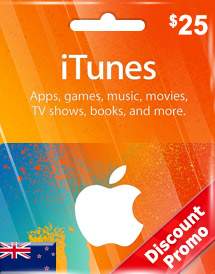 itunes nzd25 gift card nz discount promo