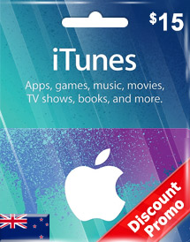 itunes nzd15 gift card nz discount promo