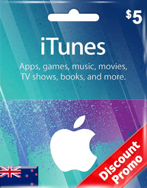 itunes nzd5 gift card nz discount promo