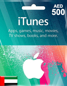 aed500 itunes gift card ae