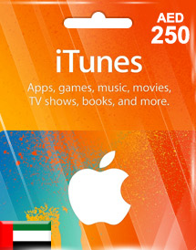 aed250 itunes gift card ae