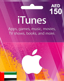 aed150 itunes gift card ae